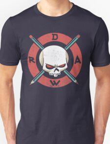 Draw Everyday - Artsy Vector Skull based Design T-Shirt