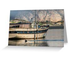 Old Boat and Wildlife, Moro Bay Greeting Card