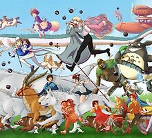 Studio Ghibli Parade by Optimistic  Sammich