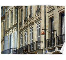 Streetscape III - Quai des Chartrons, Bordeaux Poster