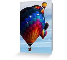 Colorful Flight, Balloon Festival, Statesville, NC Greeting Card