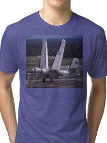 Grumman Tracker - Hands Up (Wings Folding),Australia Tri-blend T-Shirt