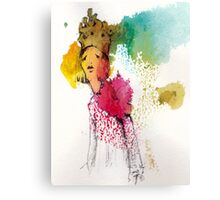 Tired queen Canvas Print