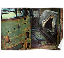 Oxidized Car, Driver's Seat Poster