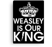 Weasley is our king - White Canvas Print
