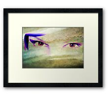Textured Eyes Framed Print