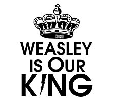 Weasley is our king - black Photographic Print