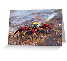 Red Crab Greeting Card