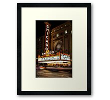 Chicago Theatre Evening, Chicago, IL - 2 Framed Print