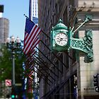 Marshall Fields Clock, Chicago, IL by kenelamb