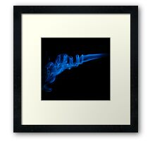 Blue Smoke Framed Print
