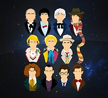 The Eleven Doctors | iPad Case by Tom Trager