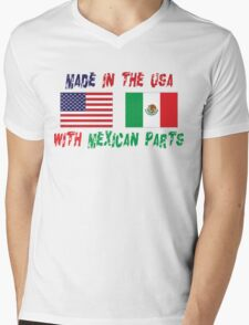 Made In America With Mexican Parts Mens V-Neck T-Shirt