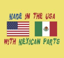 American Made With Mexican Parts Kids Tee