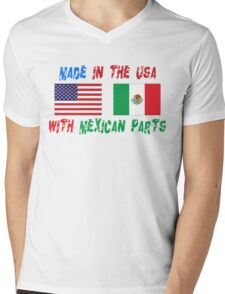 American Made With Mexican Parts Mens V-Neck T-Shirt