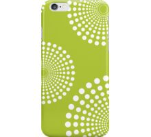 circular spots - lime green + white iPhone Case/Skin