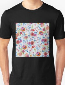 Cute watercolor hand paint winter floral T-Shirt