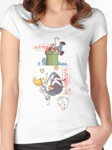 DOWN THE PIPE HOLE Women's Fitted Scoop T-Shirt