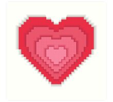Abstract 8-bit oldschool heart  Art Print