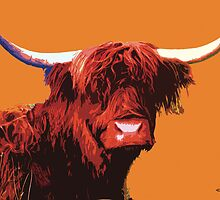 Highland Cow Photographic Digital Art Print by macdonaldarts