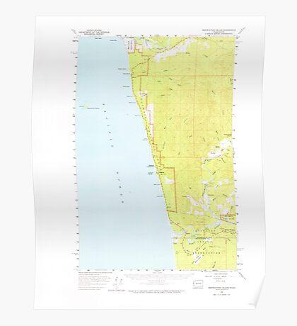 USGS Topo Map Washington State WA Destruction Island 240842 1956 62500 Poster