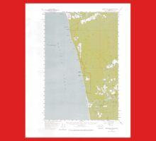 USGS Topo Map Washington State WA Destruction Island 240842 1956 62500 One Piece - Short Sleeve