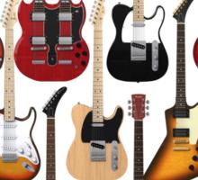 Too Many Guitars! Sticker