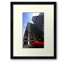 Red Awning Framed Print