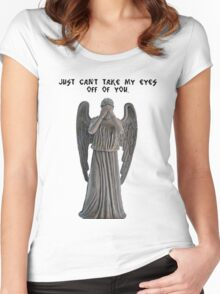 I just can't take my eyes off you. Women's Fitted Scoop T-Shirt