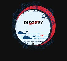Disobey whale in Ocean Unisex T-Shirt