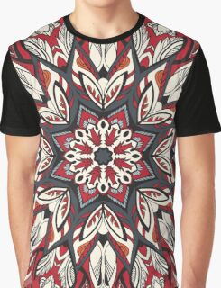 Round floral ornament Graphic T-Shirt