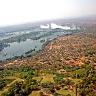 Aerial of Victoria Falls, Africa by Margaret  Hyde