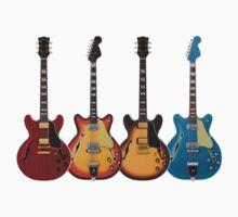 Four Hollow Body Guitars by bradyarnold