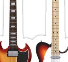 Four Sunburst Guitars Sticker