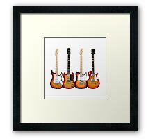 Four Sunburst Guitars Framed Print