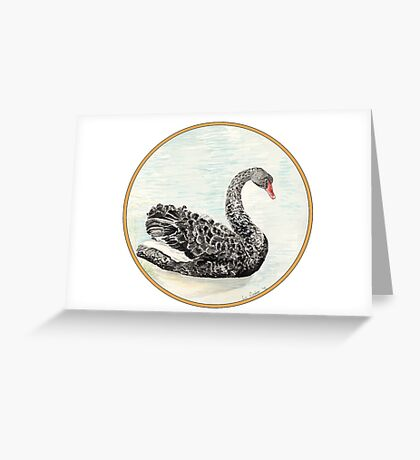 Black Swan, Birds of Hepburn, 2012 Greeting Card