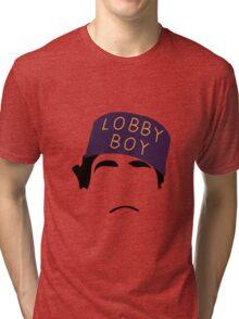 The Grand Budapest Hotel is Lobby Boy Tri-blend T-Shirt