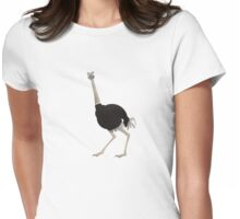 Ostrich Womens Fitted T-Shirt