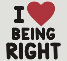 I heart being right by onebaretree