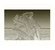 Dance at the Sea Art Print