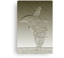Dolphin Pose Canvas Print