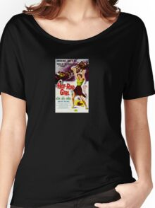 Hot Rod Girl Movie Poster Women's Relaxed Fit T-Shirt