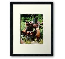 Rusty Equipment - Custer, Idaho Framed Print