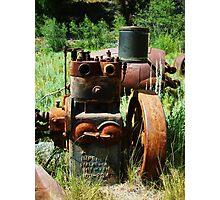 Rusty Equipment - Custer, Idaho Photographic Print