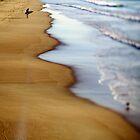 North Cronulla Beach Surfer by oneshuteye
