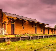 Nimmitabel railway station Rural NSW Australia  by Kym Bradley
