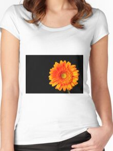 Orange Gerbera Women's Fitted Scoop T-Shirt