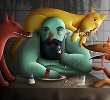 Table for four by sloeilustracion