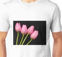 Four Pink Tulips Unisex T-Shirt