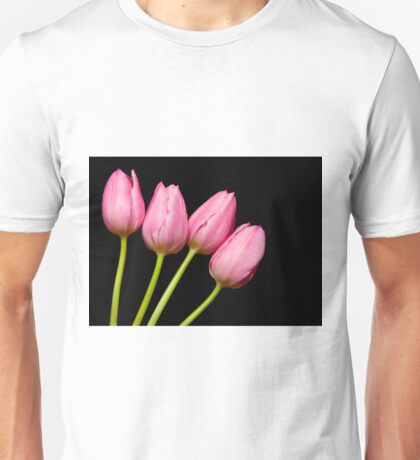Four Pink Tulips Unisex T-Shirt